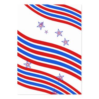 Red White and Blue Stripes and Star Business Card