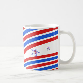 Red White and Blue Stripes and Star Coffee Mug
