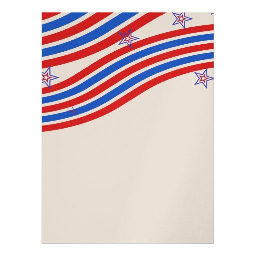 Red White and Blue Stripes and Star Announcement