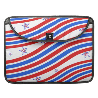 Red White and Blue Stripes and Star Sleeves For MacBooks
