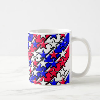 Red, White, and Blue Stripes and Stars Mug