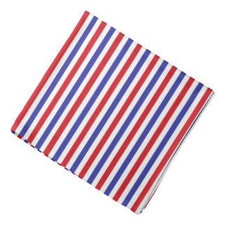 Red, White and Blue Stripes Bandana