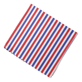 Red, White and Blue Stripes Bandanna