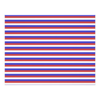 Red, White and Blue Stripes. 21.5 Cm X 28 Cm Flyer