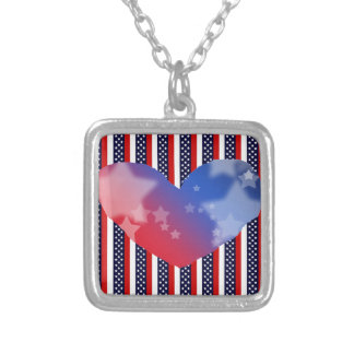 Red, White, And Blue Stripes Necklace