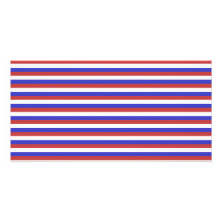 Red, White and Blue Stripes. Personalized Photo Card