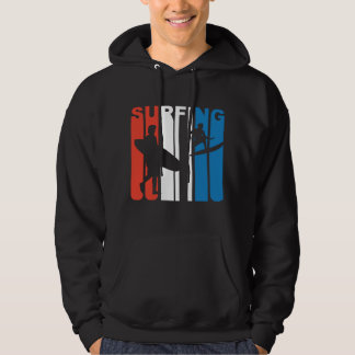 Red White And Blue Surfing Hoodie