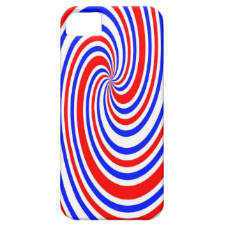Red white and blue swirl iPhone 5 covers