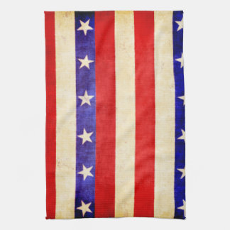 Red, White and Blue Tea Towel