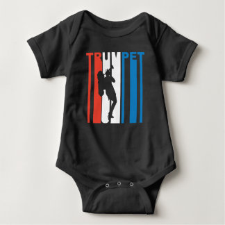 Red White And Blue Trumpet Baby Bodysuit