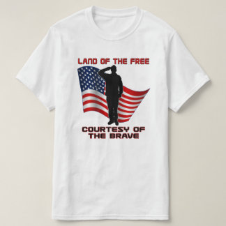 Red White and Blue Unique Veteran and Flag T-Shirt
