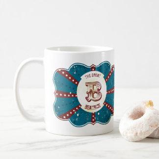 """Red White and Blue Vintage Circus Monogram """"B"""" Coffee Mug"""