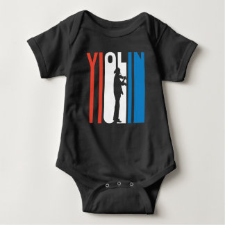 Red White And Blue Violin Baby Bodysuit