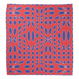 Red White and Blue Vortex Pattern Bandana