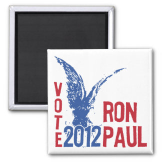 Red White and Blue Vote 2012 Ron Paul Square Magnet