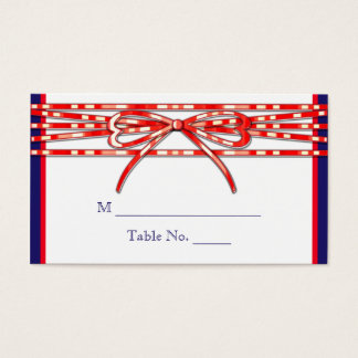 Red White and Blue Wedding Place Cards