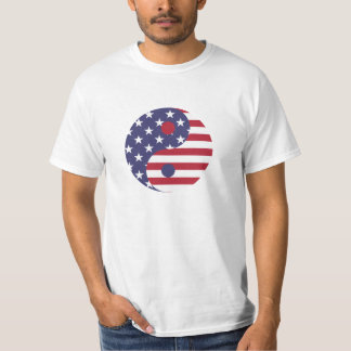 Red, White, And Blue Yin Yang T-Shirt