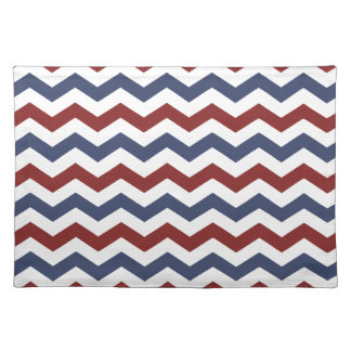 Red White and Blue Zig Zag Pattern Placemat