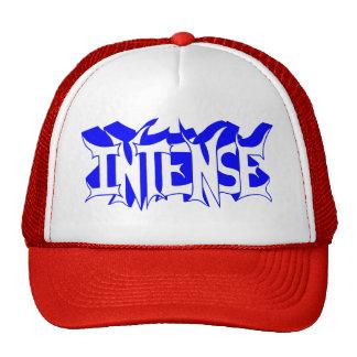 Red/White Baseball Cap with Blue Intense Logo