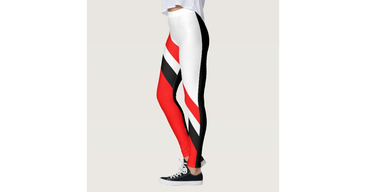 Red white black leggings zazzle for Black red white boxspringbett