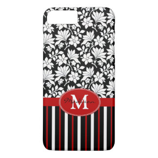 Red, white & black name / initial iPhone 7 plus case