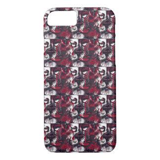 Red white black stripe tattoo ink lion art iPhone 8/7 case