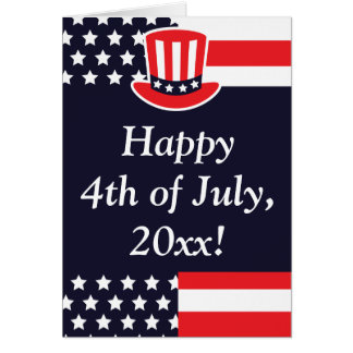 Red, White & Blue 4th of July Greeting Card