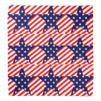 Red White Blue American Flag Star Bandanna