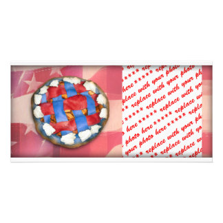 Red, White & Blue Apple Pie Photo Cards