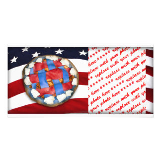 Red White & Blue Apple Pie Photo Card