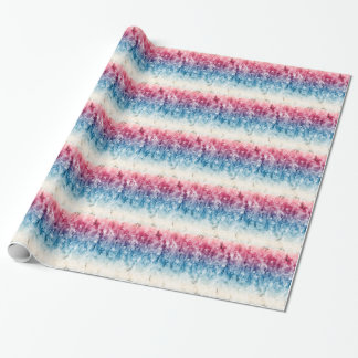 Red White Blue Artistic USA Patriotic Design Wrapping Paper