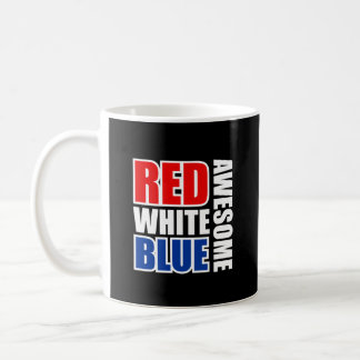 Red White Blue Awesome Mug