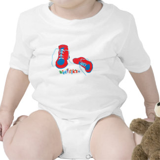 Red White Blue Baby Shoes Shirts