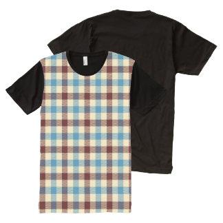 Red, White & Blue Blanket Plaid All-Over Print T-Shirt