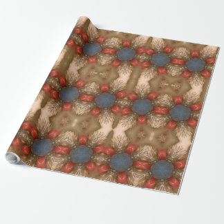 Red White Blue Christmas Decoration Baubles Wrapping Paper