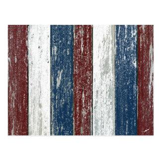 Red White Blue Driftwood Postcard