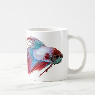 Red White & Blue (Fish on white background) Coffee Mug