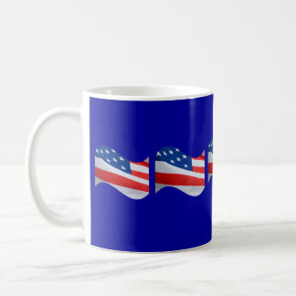 Red, white & blue flags coffee mug