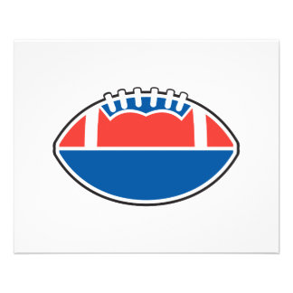 red white blue football icon graphic 11.5 cm x 14 cm flyer