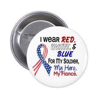 Red White Blue For My Fiance 6 Cm Round Badge