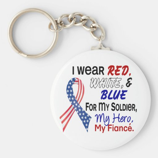 Red White Blue For My Fiance Key Chains