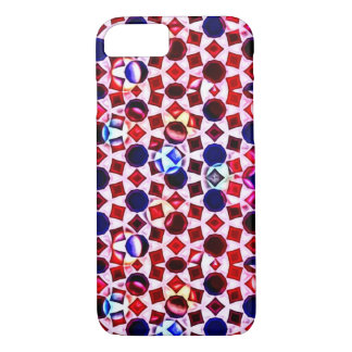 Red, White & Blue Fractal Jewels iPhone 7 Case