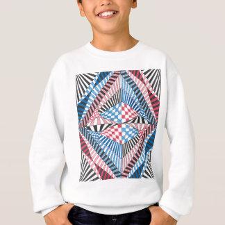 Red, White, Blue Geometric Abstract Zen Doodle Art Sweatshirt