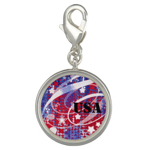 Red, White & Blue Glory Personalized Photo Charm