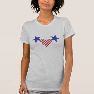 Red White Blue Heart Stars and Stripes Shirts