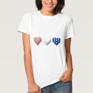 Red, White & Blue Hearts Shirts