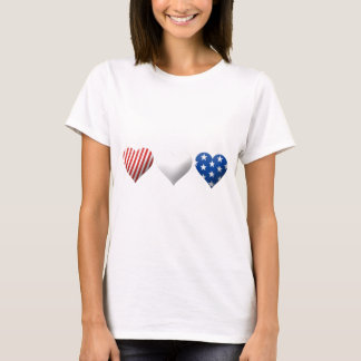 Red, White & Blue Hearts T-Shirt