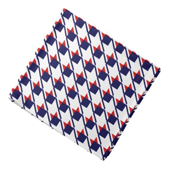 Red White Blue Houndstooth Kerchiefs