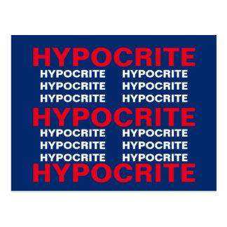 Red White Blue Hypocrite Resistance Persist Postcard