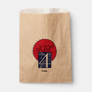 Red, White, Blue July 4th Favour Bag Favour Bags